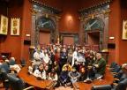 Los diputados Maruja Pelegrín, Ramón Sánchez-Parra y Emilio Ivars han recibido hoy a los alumnos y alumnas de 2º de Bachillerato del IES La Basílica de Algezares