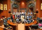 Alumnos y alumnas del CC La Milagrosa de Blanca