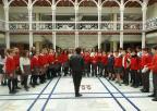 Alumnos y alumnas del Colegio Sagrado Corazón de San Javier