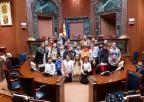 Alumnos y alumnas del CEIP Beethoven, de Cartagena
