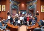 Alumnos y alumnas del IES Emilio Pérez Piñero de Calasparra