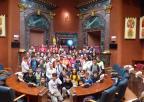 Alumnos y alumnas del colegio Asunción Jordán de Puerto Lumbreras