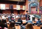 Los diputados Ramón Sánchez-Parra y María Dolores Valcárcel han explicado la labor de la Asamblea a los alumnos del Jesús María de Murcia