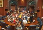 Alumnos y alumnas del colegio Santa Florentina de Cartagena