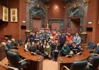 Alumnos y alumnas del CC Luis Vives de Nonduermas