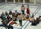 Los alumnos y alumnas del CEIP La Cruz de El Esparragal, en el hemiciclo de la Asamblea