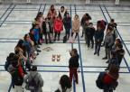 Alumnos y alumnas del colegio Miguel de Cervantes de La Aljorra