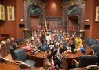 Alumnos y alumnas del CEIP Antonio Machado de Alhama de Murcia