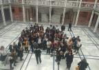 Alumnos y alumnas del Colegio Cristo Crucificado de Santo Ángel