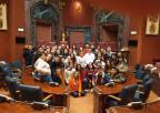 Los diputados Miriam Guardiola y Emilio Ivarse responden a las preguntas de los alumnos del IES Pedro Guillén de Archena