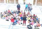 Alumnos y alumnas del colegio Santa María del Buen Aire de La Puebla